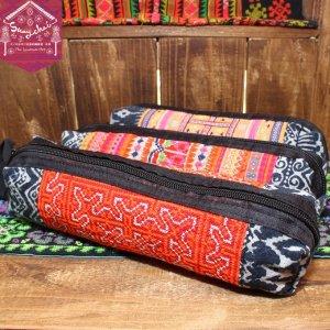 モン族刺繍ペンケース