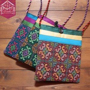 モン族クロスステッチ刺繍ミニポシェット