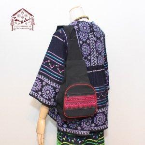 モン族クロスステッチ刺繍折りたたみショルダーバッグ