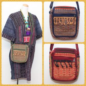 ナガ族刺繍斜め掛けバッグ