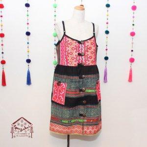 タイモン族刺繍キャミワンピース【A】