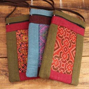 モン族刺繍ミニポシェット