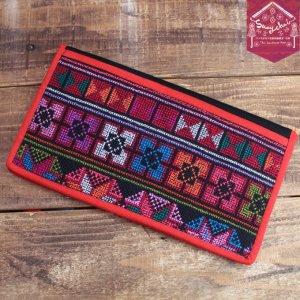 アカ族クロスステッチ刺繍カードケース