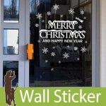 ウォールステッカー クリスマス ガラス 飾り-(fdx-2103)
