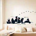 スイッチステッカー [黒猫と足あと]-(kr-0015)