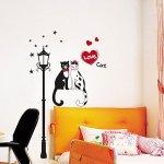 ウォールステッカー [猫のカップル Love cat]-(krs-0106)