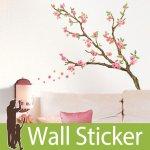ウォールステッカー [木に咲く花]-(lwst-006)