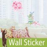ウォールステッカー [花木と鳥かご]-(lwst-027)