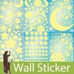 蓄光タイプのウォールステッカー [6種類から選べる星シリーズ]-(mat-040) y1