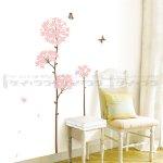 ウォールステッカー [ピンクの花]-(ss-58242)