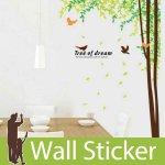 ウォールステッカー [木と鳥(ツリーオブドリーム)]-(wch-012)