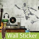 ウォールステッカー [サッカープレイヤー]-(wch-022)
