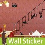 ウォールステッカー [階段の猫]-(wch-032)