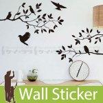 転写式のウォールステッカー [鳥 35×60]-(wch-071)
