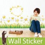 ウォールステッカー [花と蝶2]-(wch-075)