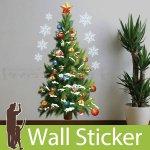 クリスマス飾り用のウォールステッカー [クリスマスツリー]-(wch-083)