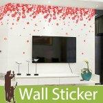 ウォールステッカー [赤い花]-(wch-096)