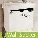 転写式のウォールステッカー [ポイントステッカー HELLO]-(wch-114) y4