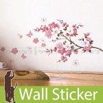 ウォールステッカー [木と花]-(wch-115)