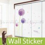 ウォールステッカー [紫の花]-(wch-117)