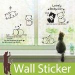 ウォールステッカー [かわいらしい子猫]-(wch-148)