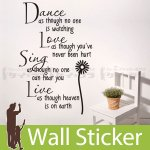 ウォールステッカー [英文字(Dance)]-(wch-161)