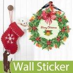 クリスマス飾り用のウォールステッカー [クリスマスリース]-(wch-170)