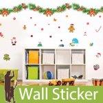 クリスマス飾り用のウォールステッカー [クリスマスリース]-(wch-171)