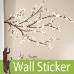 ウォールステッカー RoomMates [ホワイトブロッサム ウィズ 3D装飾]-(wja-103)