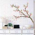 ウォールステッカー [ピンクの花が咲く木]-(wst-011)