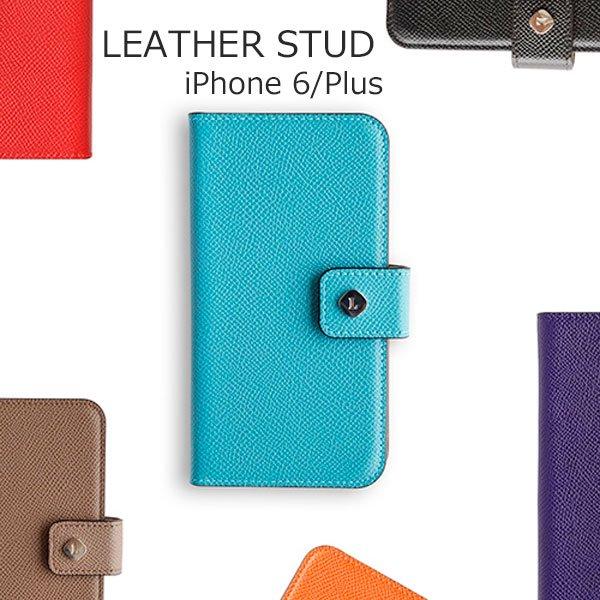 invitel iphone6 6s 6plus 6splusケース 手帳型 leatherstud 全6色の