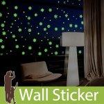 ウォールステッカー [蓄光雪の結晶と星]-(wch-233)