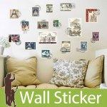 ウォールステッカー [ヴィンテージ風切手]-(wch-241)