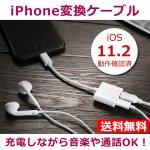 iPhoneを充電しながらイヤホンが使える変換ケーブル 通話もOK