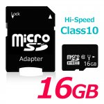 microSDHC メモリーカード microSD 16GB SDHC class10 アダプター付き