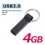 USB3.0フラッシュメモリー 4GB おしゃれなキャップレスで衝撃に強いメタル素材