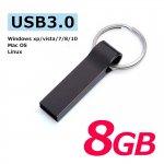USB3.0フラッシュメモリー 8GB おしゃれなキャップレスで衝撃に強いメタル素材