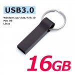 USB3.0フラッシュメモリー 16GB おしゃれなキャップレスで衝撃に強いメタル素材