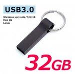 USB3.0フラッシュメモリー 32GB おしゃれなキャップレスで衝撃に強いメタル素材