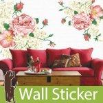ウォールステッカー [ピンクのバラ]-(wch-098)