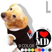 ドッグタンクトップ COOL I Love My Dog 【Lサイズ(中型犬)】