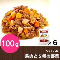 ドッグフード ペットパル 馬肉と5種の野菜 100g×6袋