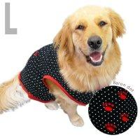 犬服 いぬ服 ドッグタンクトップ バロン(黒水玉) 【Lサイズ(中型犬)】メール便送料無料