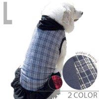 犬服・ドッグウェア オーガニックコットン100%・タンクトップパーカー(フリル付き)【Lサイズ(中型犬)】
