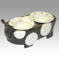 犬用 萬古焼(陶器製)フードボウルテーブル・餌台 ポルカ