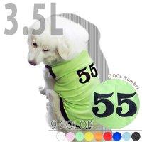 犬服 いぬ服 ドッグタンクトップ COOL Number (century書体) 【3.5Lサイズ(超大型犬)】レターパック送料無料(代金引換別途送料600円〜)
