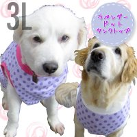 犬服 いぬ服 ドッグタンクトップ ラベンダードット【3Lサイズ(超大型犬)】日本製 メール便送料無料