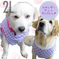 犬服 いぬ服 ドッグタンクトップ ラベンダードット【2Lサイズ(大型犬)】日本製 メール便送料無料