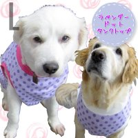 犬服 いぬ服 ドッグタンクトップ ラベンダードット【Lサイズ(中型犬)】日本製 メール便送料無料