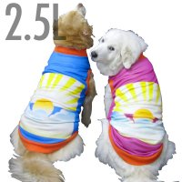 犬服 いぬ服 ドッグタンクトップ お正月や晴れの日♪日の出全面プリントタンクトップ【2.5Lサイズ(大型犬)】日本製 メール便送料無料